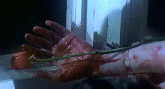 Rose in the bloody hands is SO romantic...